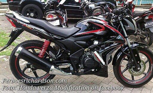 contoh modifikasi motor honda verza 150 cw