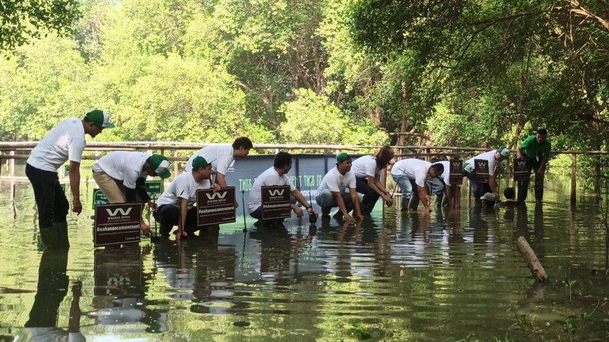 PT. Wahana Makmur Sejati ikut melestarikan alam dengan menanam 10.000 pohonbakau…